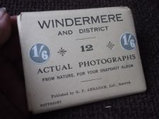 12 MINI REAL PHOTOGRAPHS BLACK WHITE WINDERMERE & DISTRICT POST ENVELOPE ABRAHAM